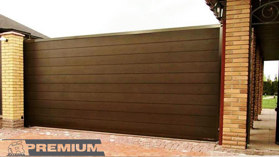 Откатные ворота с калиткой - Завод ворот Ритерна