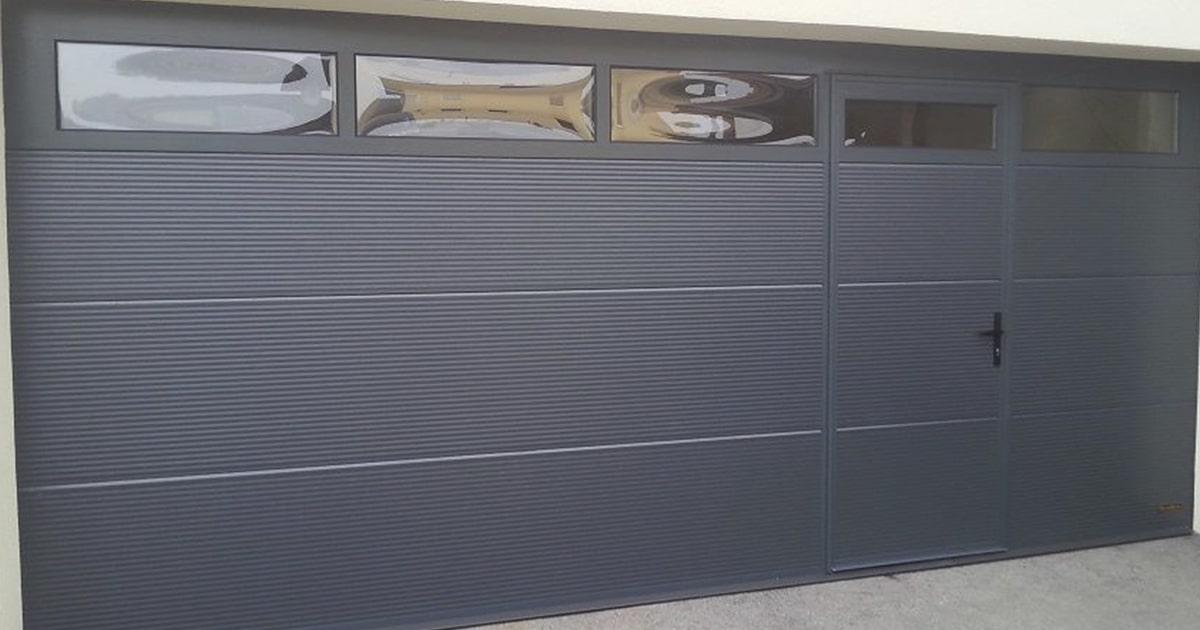 Купить гаражные ворота с калиткой Ритерна в Киеве